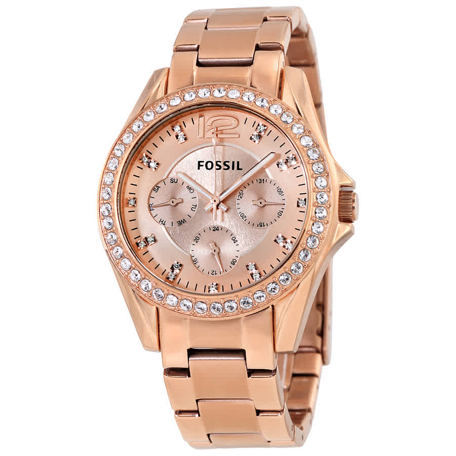 a086c46fab5 Fossil Riley Multi-Function Rose Gold-plated Ladies Watch ES2811