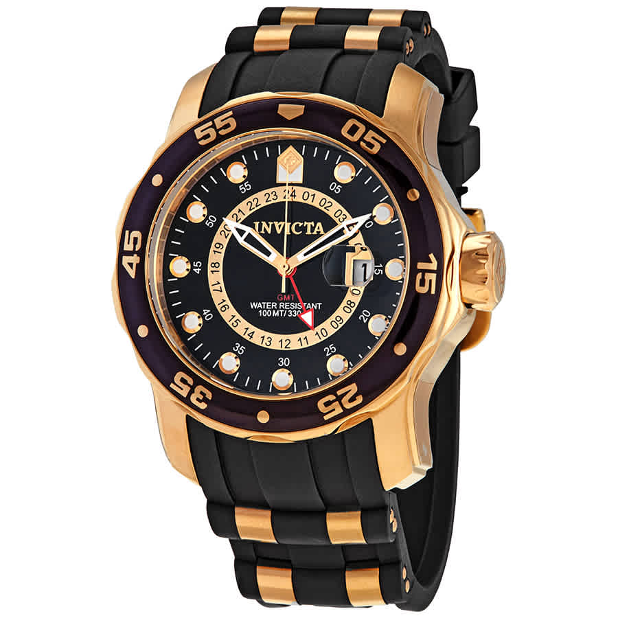 Invicta Pro Diver Gmt Black Dial Mens Watch 6991