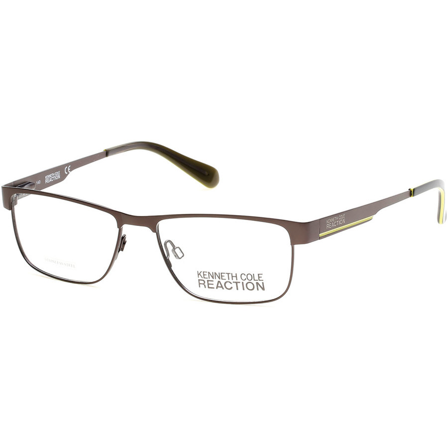 Kenneth Cole Reaction Square Mens Eyeglasses Kc0779 9 54 In Brown