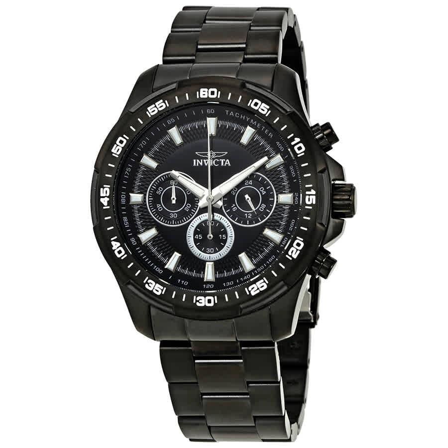 Invicta Speedway Chronograph Black Dial Mens Watch 22785