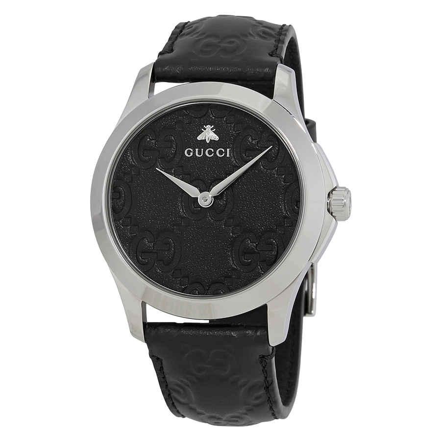 GUCCI G-TIMELESS BLACK DIAL MENS WATCH YA1264031