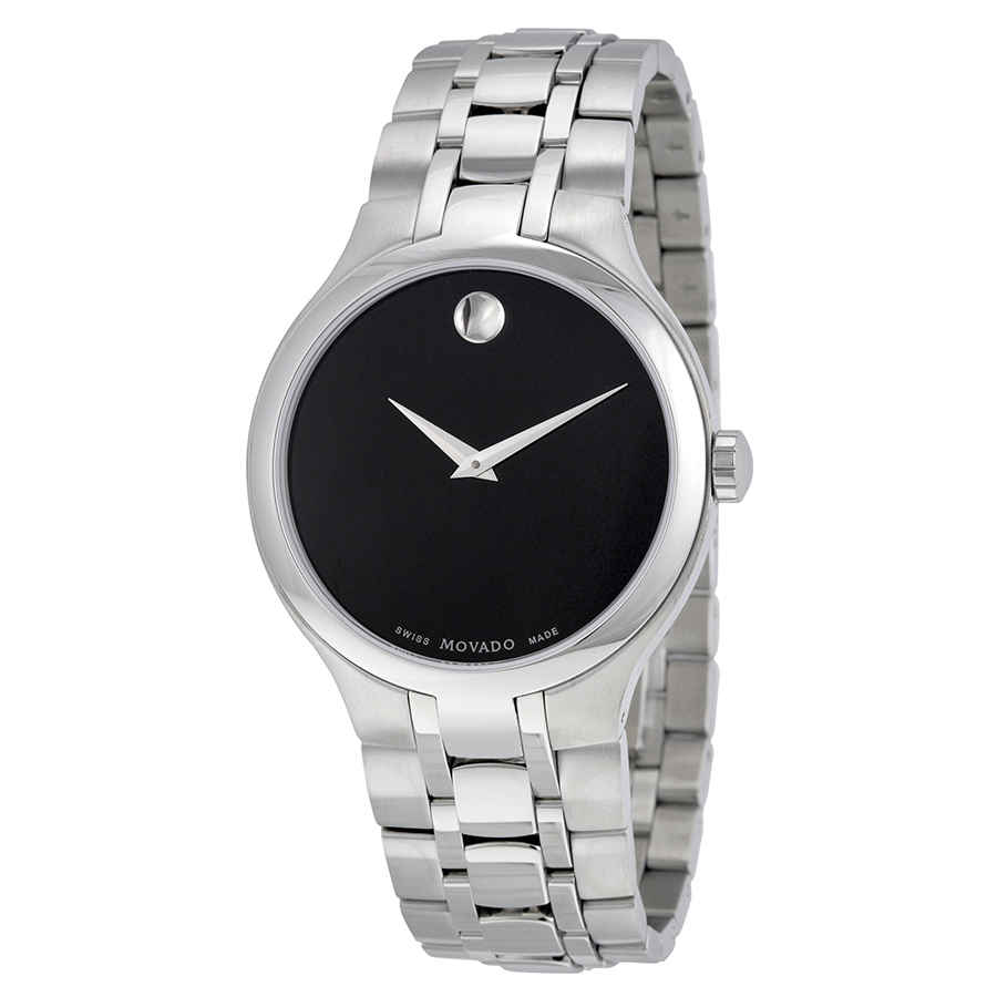 MOVADO MUSEUM BLACK MUSEUM DIAL STAINLESS STEEL MENS WATCH 0606367