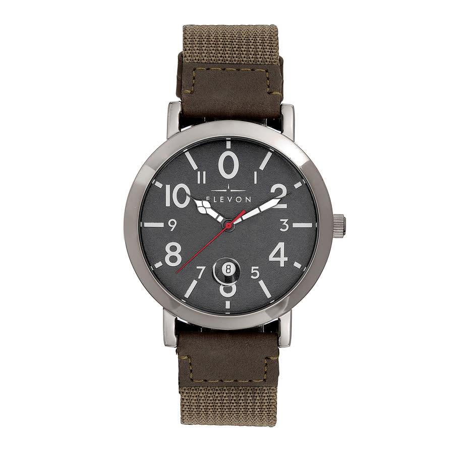 Elevon Mach 5 Quartz Grey Dial Mens Watch Ele123-3 In Gray