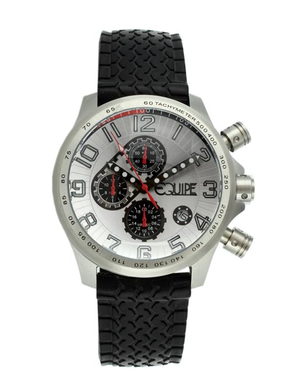 Equipe Hemi Mens Watch Q502 In Black,silver Tone