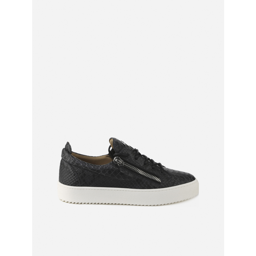 Giuseppe Zanotti Frankie Mens Black Sneakers