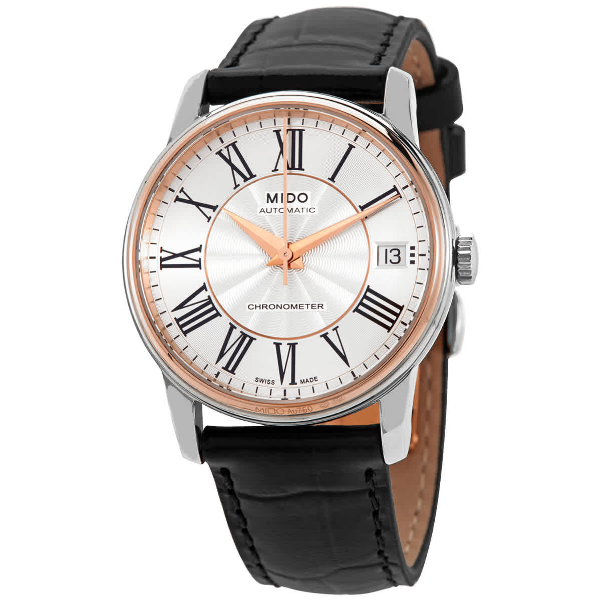 Mido Baroncelli Iii Automatic Silver Dial Mens Watch M0104084603320 In Black
