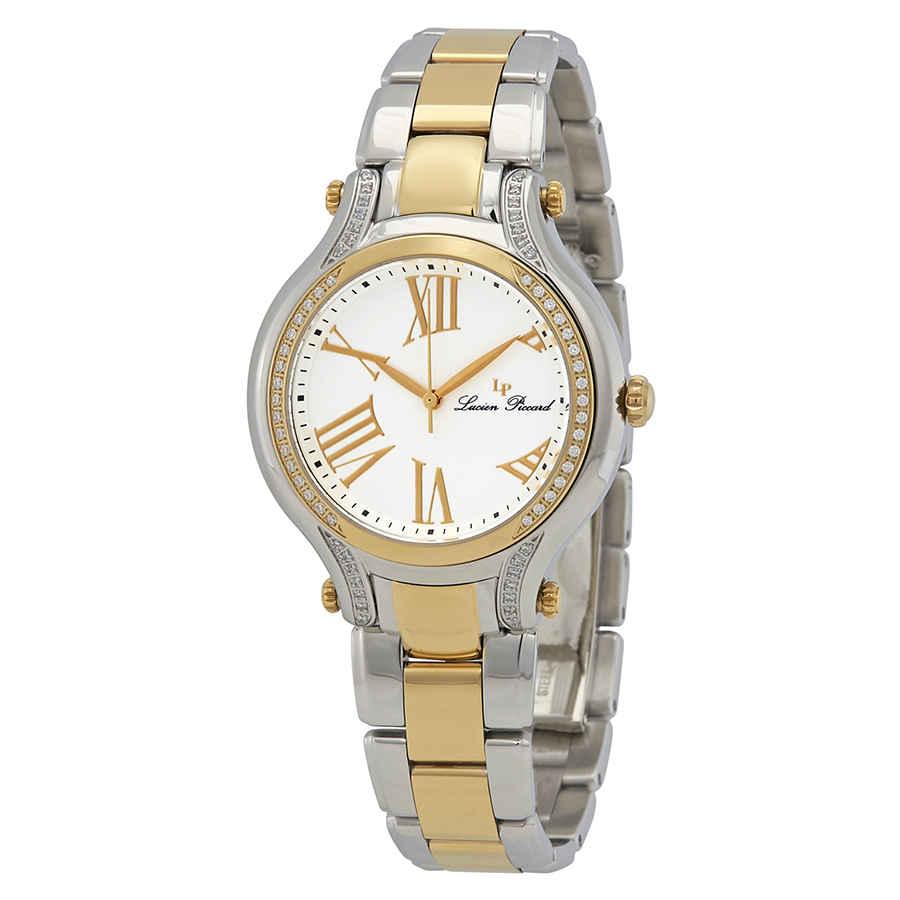 Lucien Piccard Elisia White Dial Ladies Watch 16353-sg-22 In Metallic