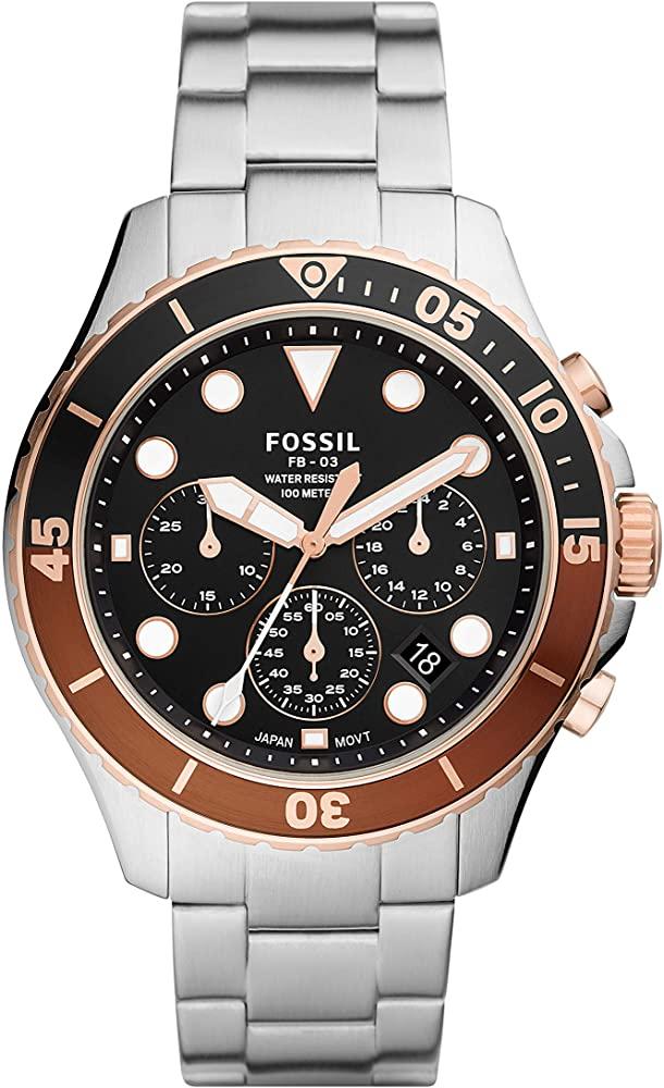 FOSSIL FB-03 CHRONOGRAPH QUARTZ BLACK DIAL MENS WATCH FS5768