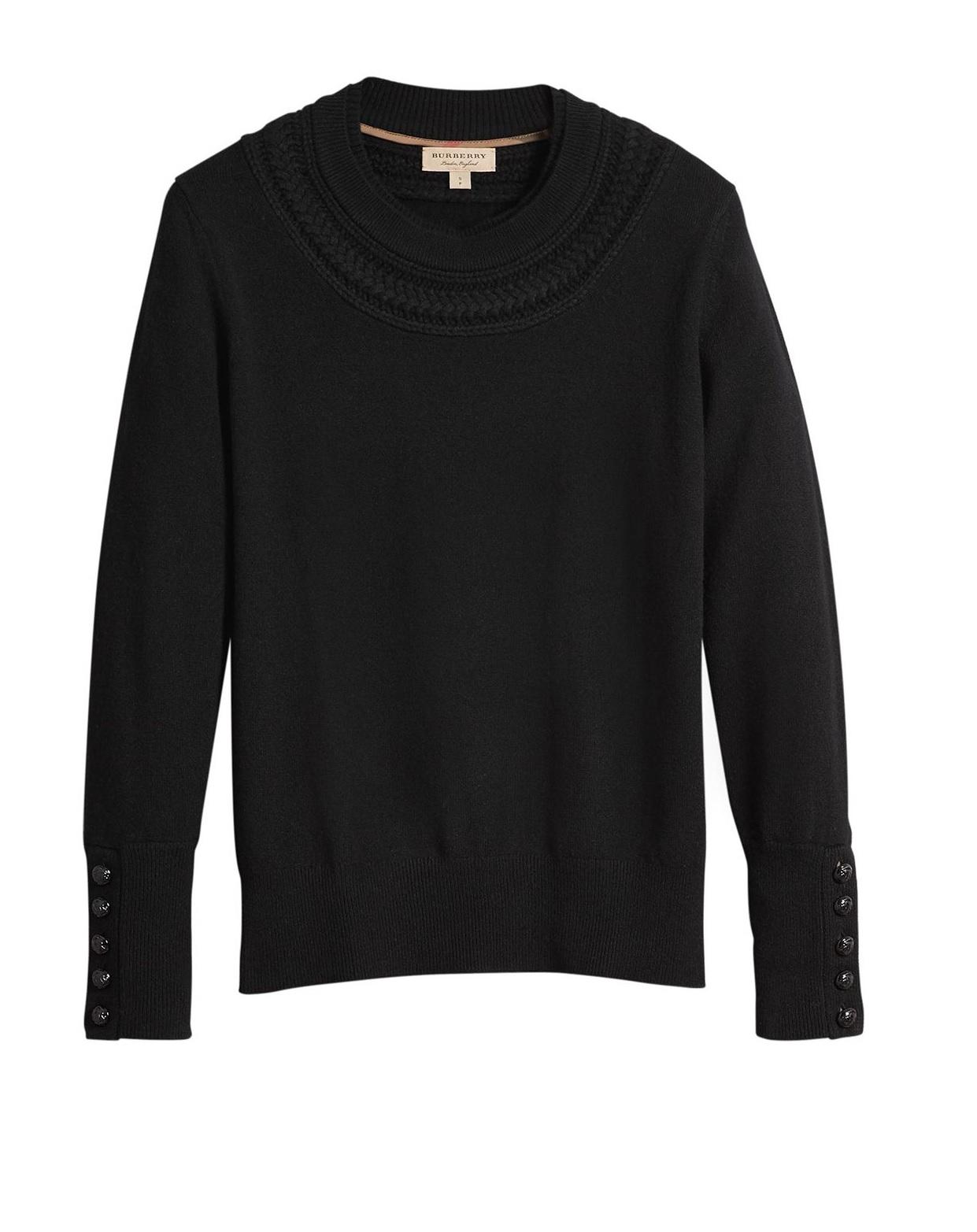 Burberry Ladies Black Cashmere Sweater
