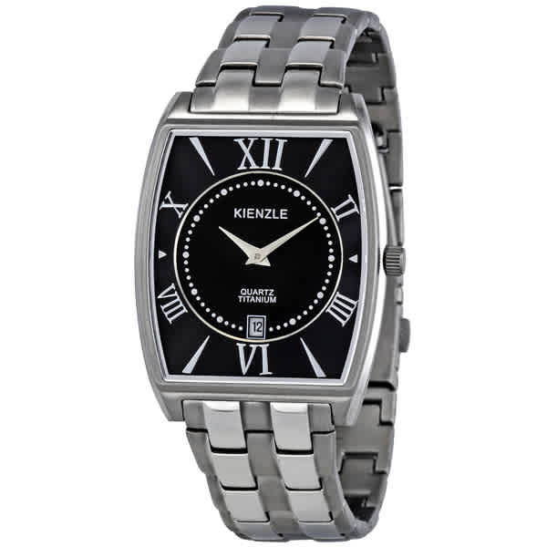 Kienzle Klassik Black Dial Titanium Mens Watch V81091343250 In Gray