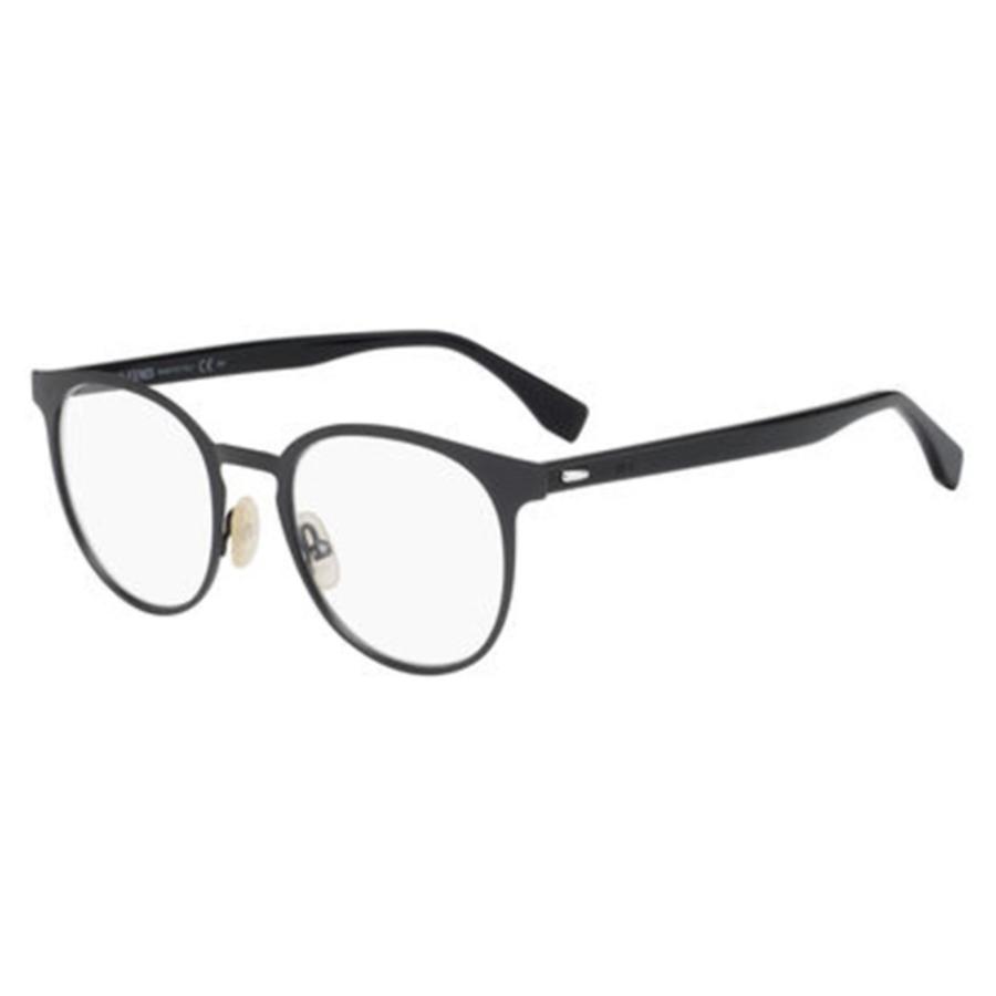 Fendi Mens Grey Oval Eyeglass Frames Ff M0009 0fre 50
