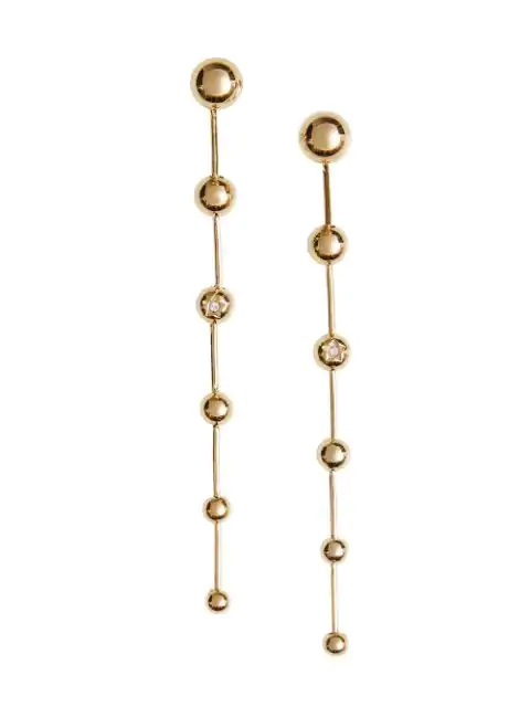 Burberry Ladies Long Graduated Ball Earrings In Gold