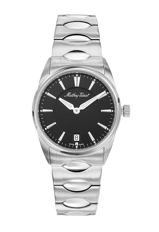 Mathey-tissot Anaconda Quartz Black Dial Ladies Watch D791an In Black,silver Tone