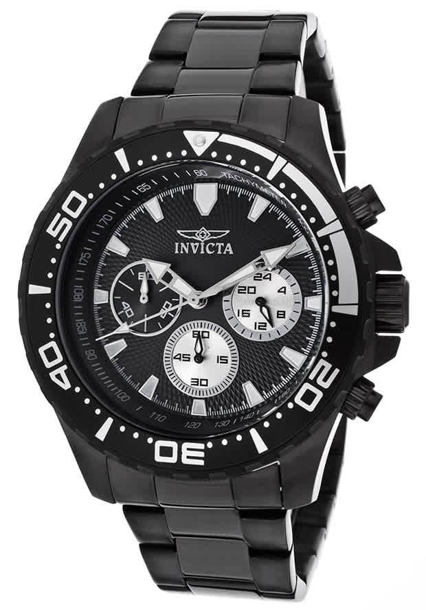 Invicta Pro Diver Chronograph Black Dial Mens Watch 12919