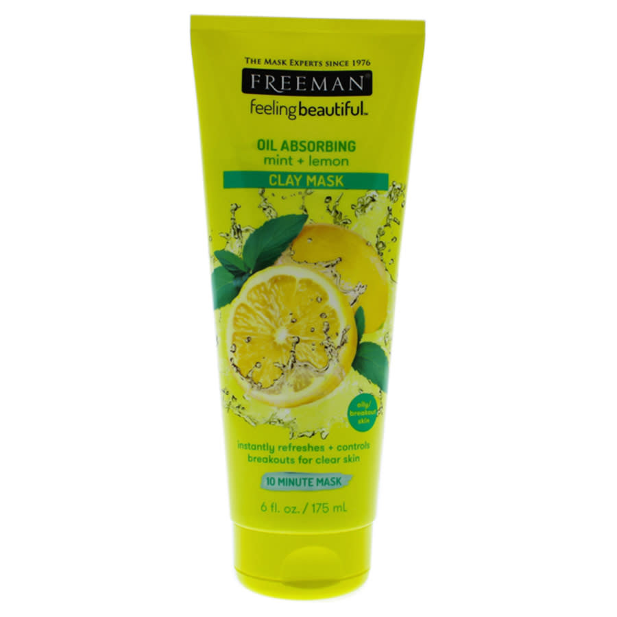 Freeman Feeling Beautiful Clay Mask Mint And Lemon By  For Unisex - 6 oz Mask In Yellow