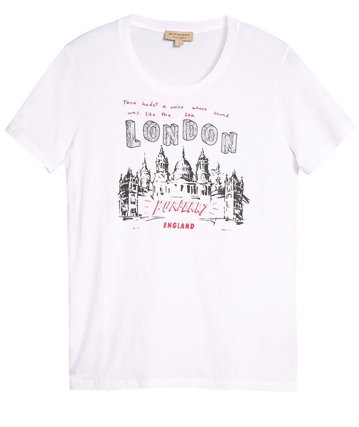 Burberry London Print T-shirt In White