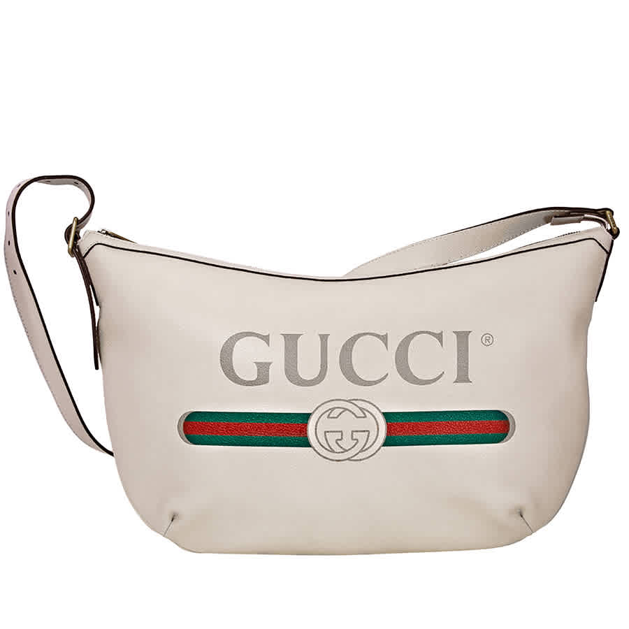 Gucci Shoulder Bag With Logo Print In White