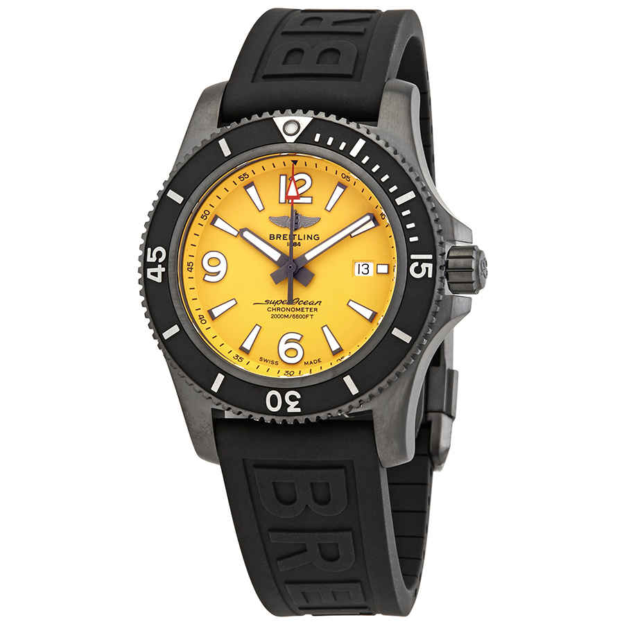 BREITLING SUPEROCEAN 46 AUTOMATIC YELLOW DIAL MENS WATCH M17368D71I1S2