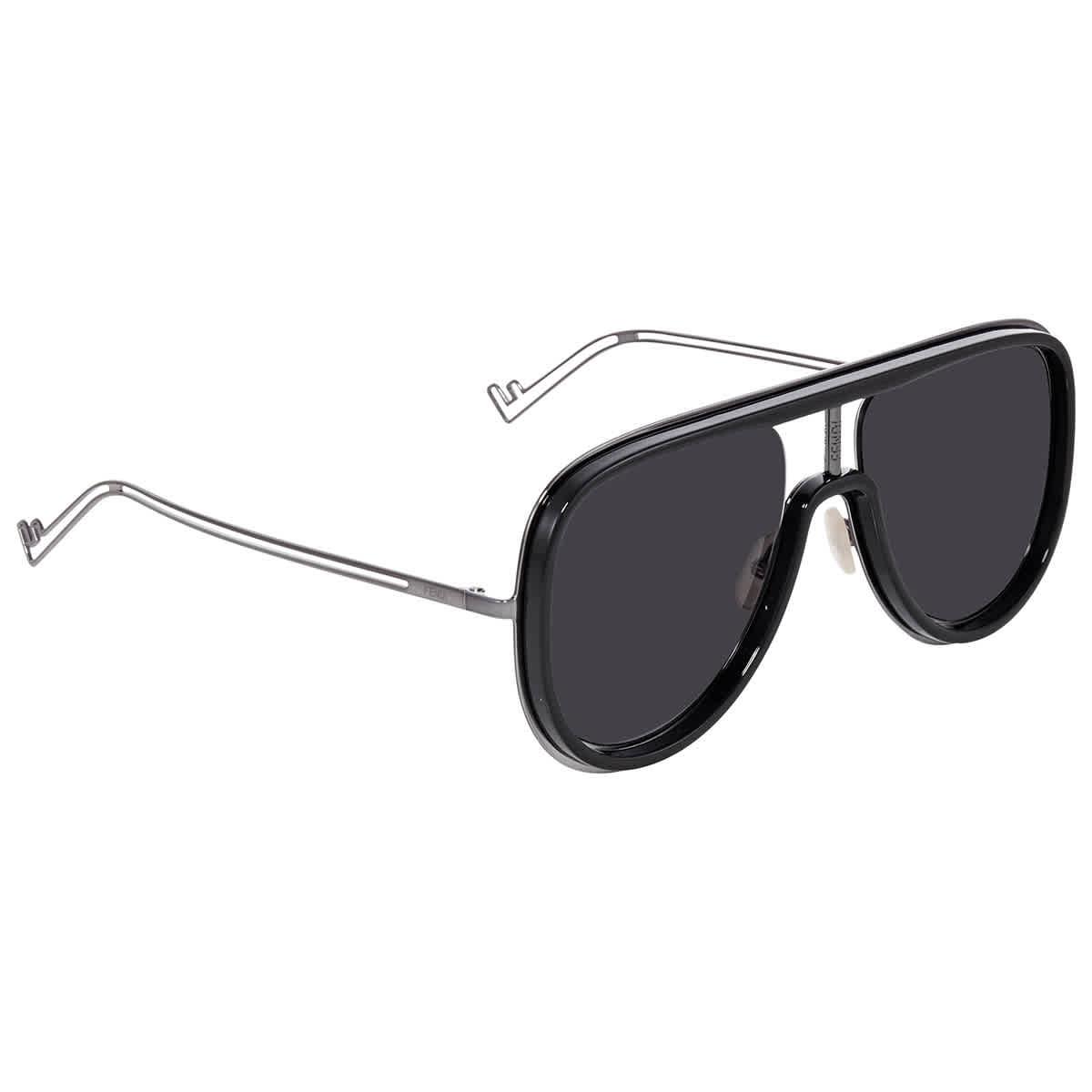 Fendi Grey Mens Sunglasses Ff M0068/s Ans 57 In Black,grey