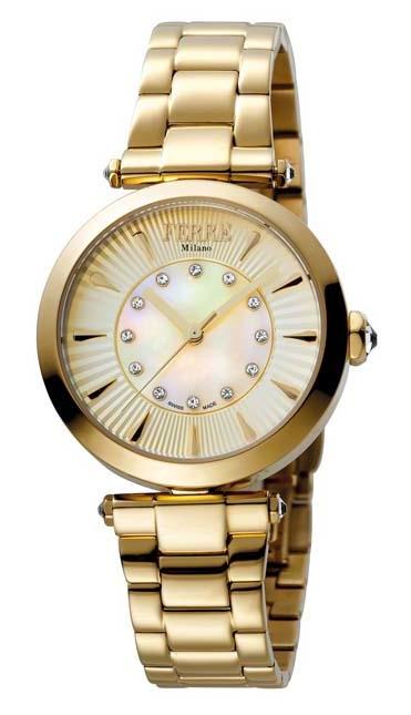 Ferre Milano Gold Dial Gold-tone Ladies Watch Fm1l075m0021