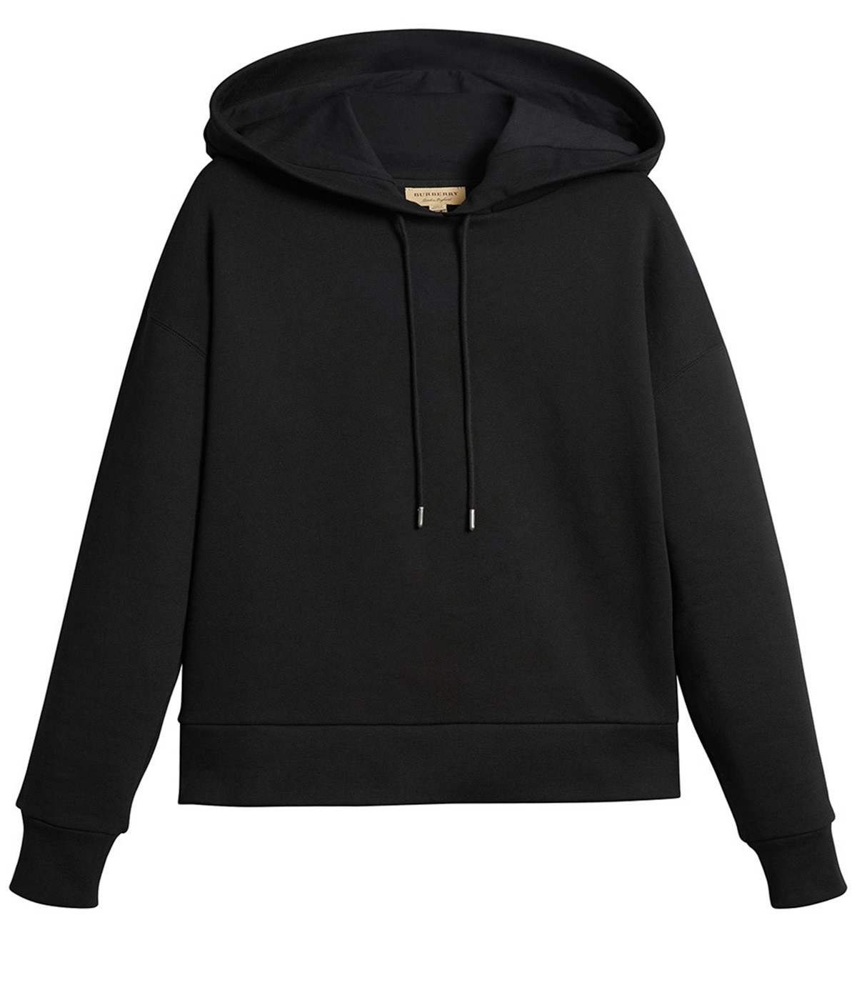 Burberry Embroidered Hood Sweatshirt In Black