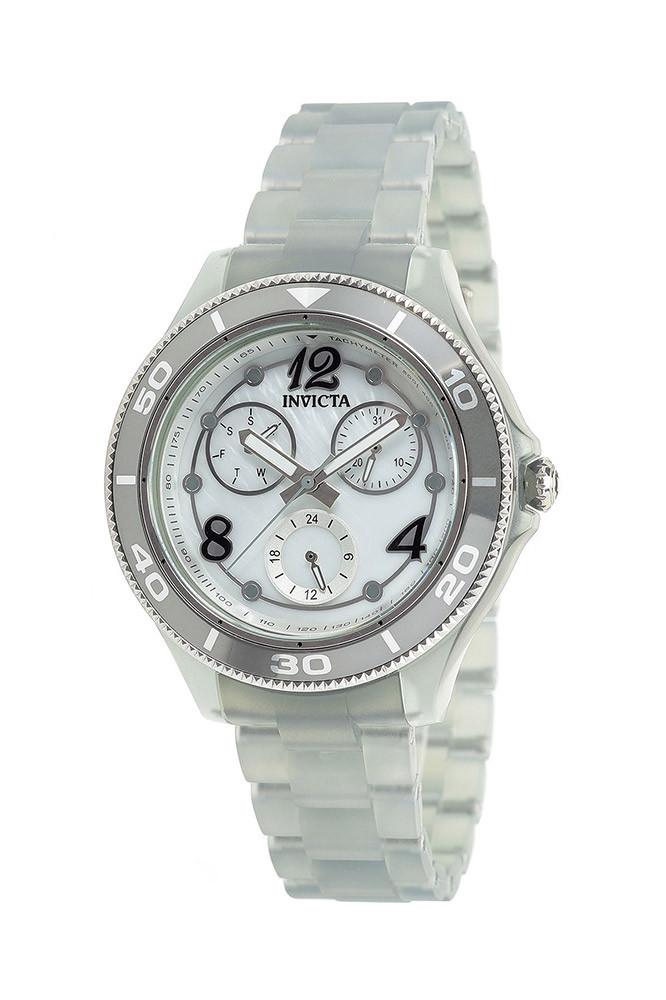 Invicta Anatomic Quartz White Oyster Dial Ladies Watch 30368 In Metallic