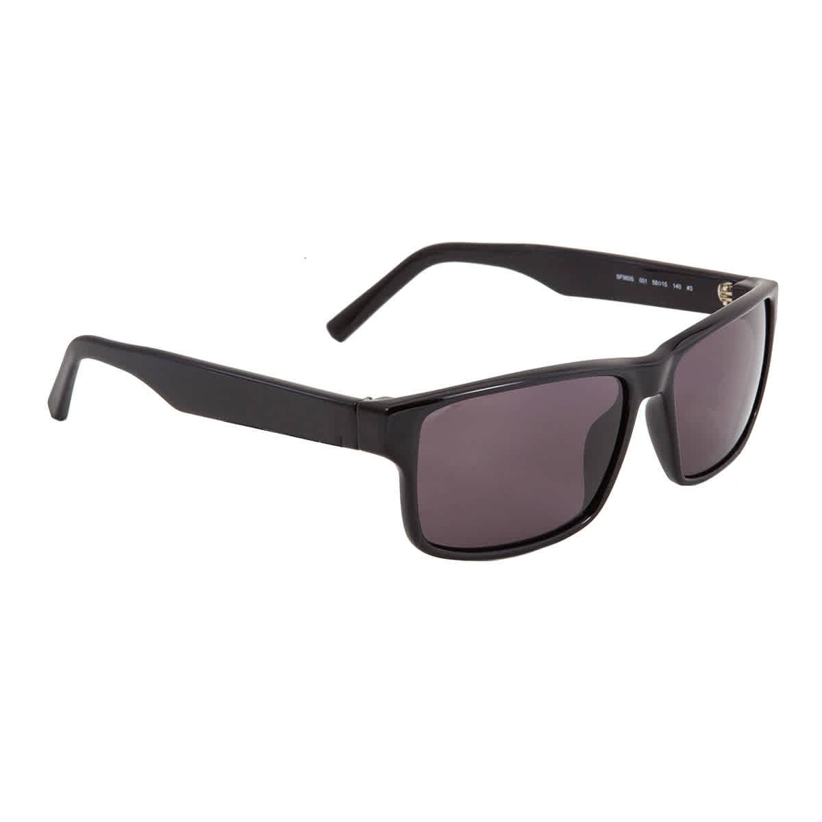Salvatore Ferragamo Grey Rectangular 58 Mm Mens Sunglasses Sf960s 001 58 In Black