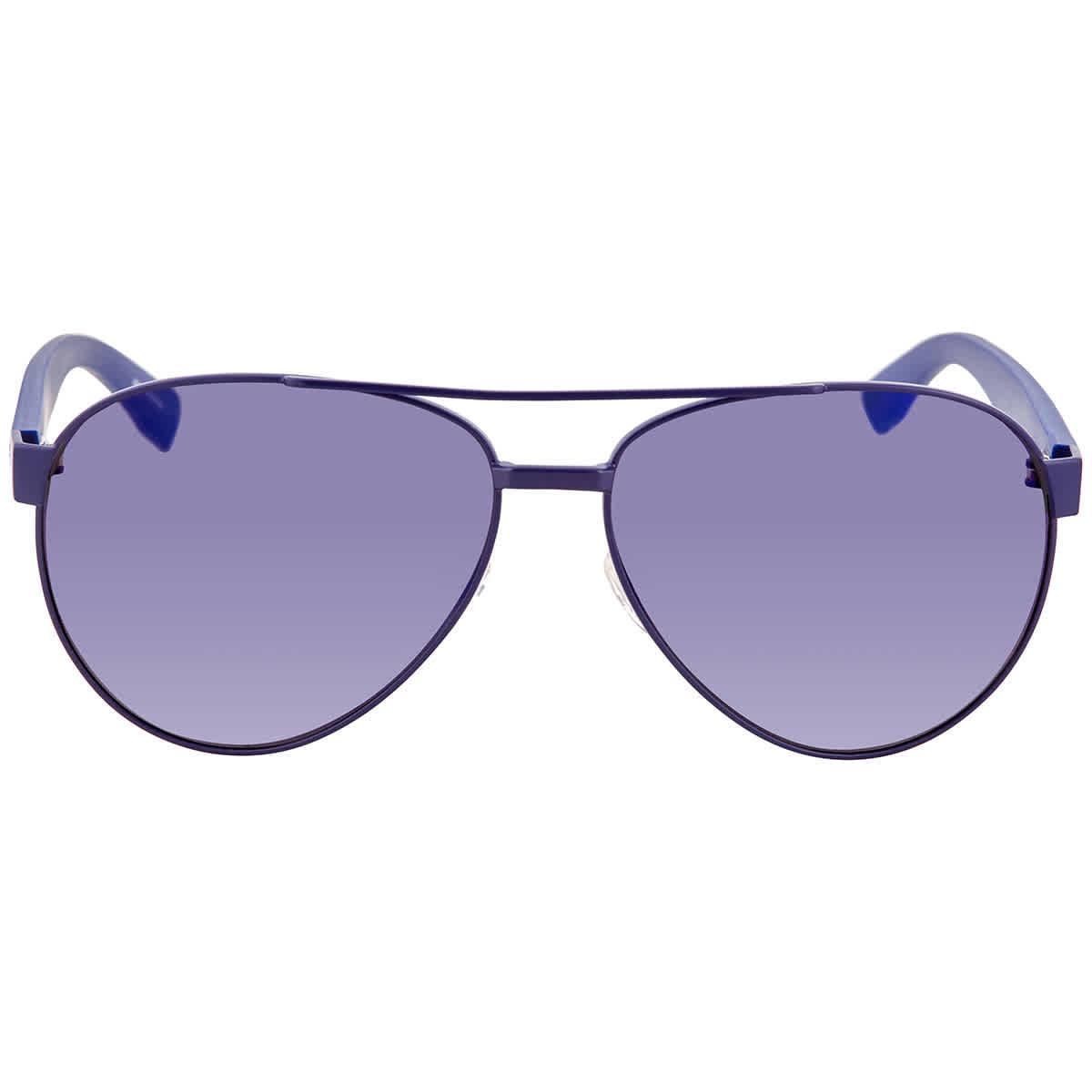 Lacoste Purple Aviator Unisex Sunglasses L185s 424 60 In Blue