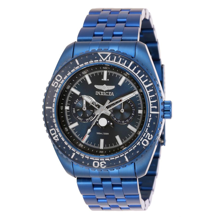 Invicta Pro Diver Quartz Blue Dial Mens Watch 33565