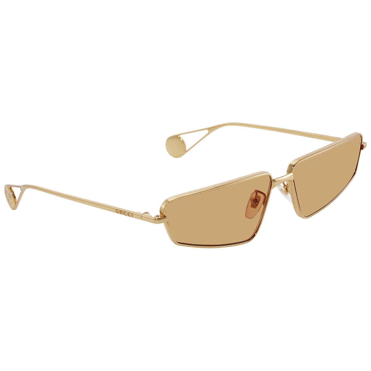 Gucci Orange Ladies Sunglasses Gg0537s 004 63 In Transparent