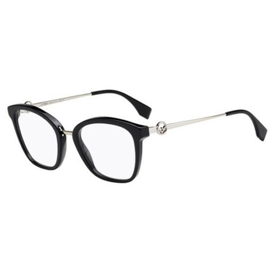 Fendi Ladies Black Rectangular Eyeglass Frames Ff 0307 0807 00 50/20