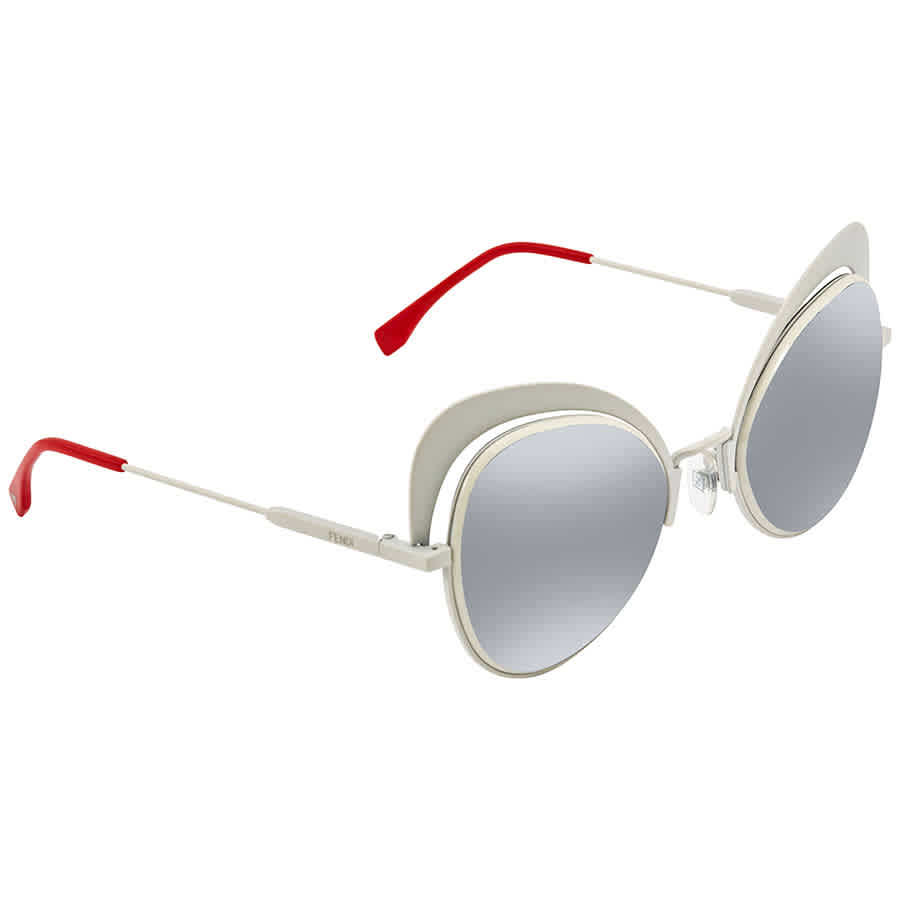 Fendi Eyeshine Violet Gradient Silver Mirror Cat Eye Ladies Sunglasses Ff 0247/s Vk6/go -54 In Transparent