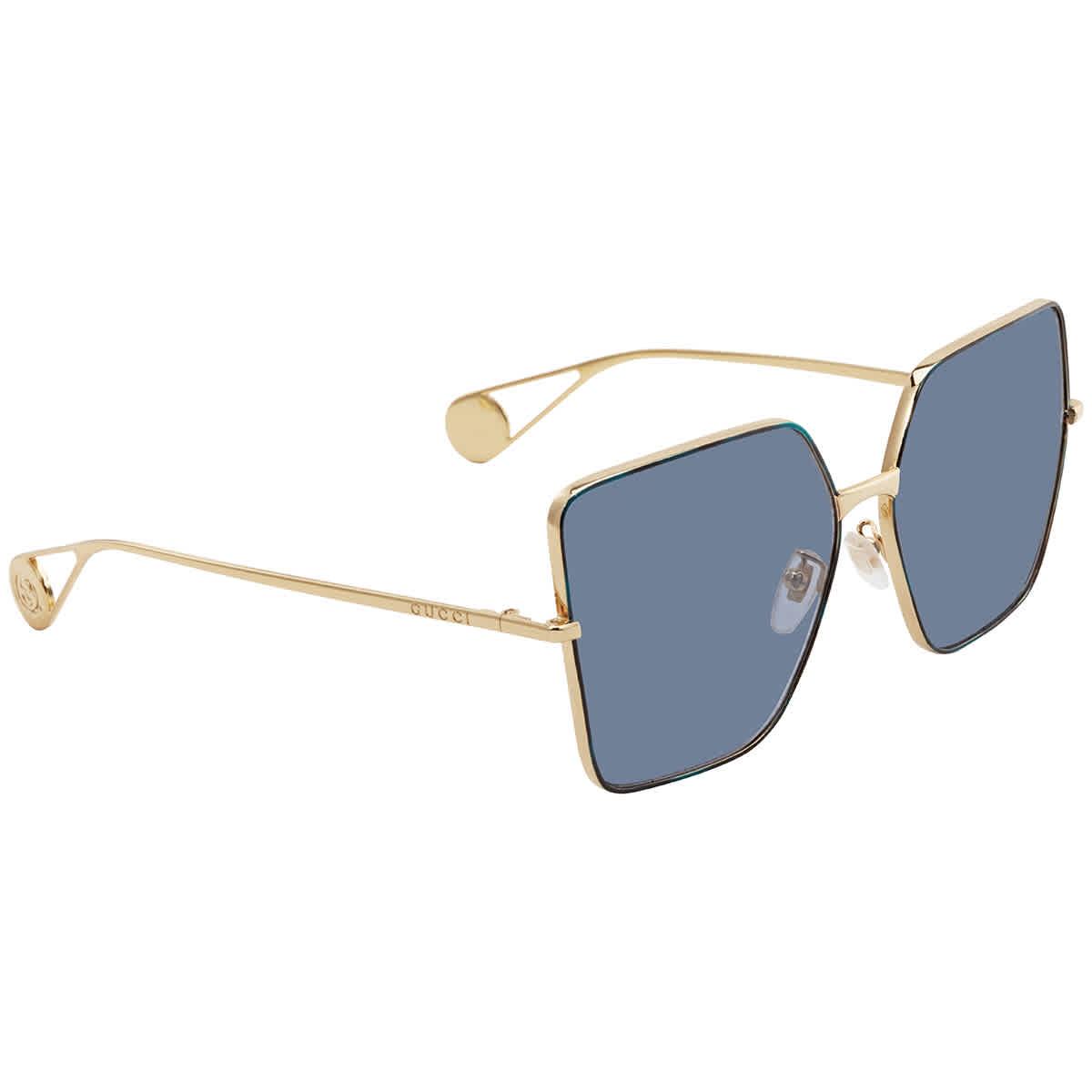Gucci Blue Oversize Sunglasses Gg0436s00461