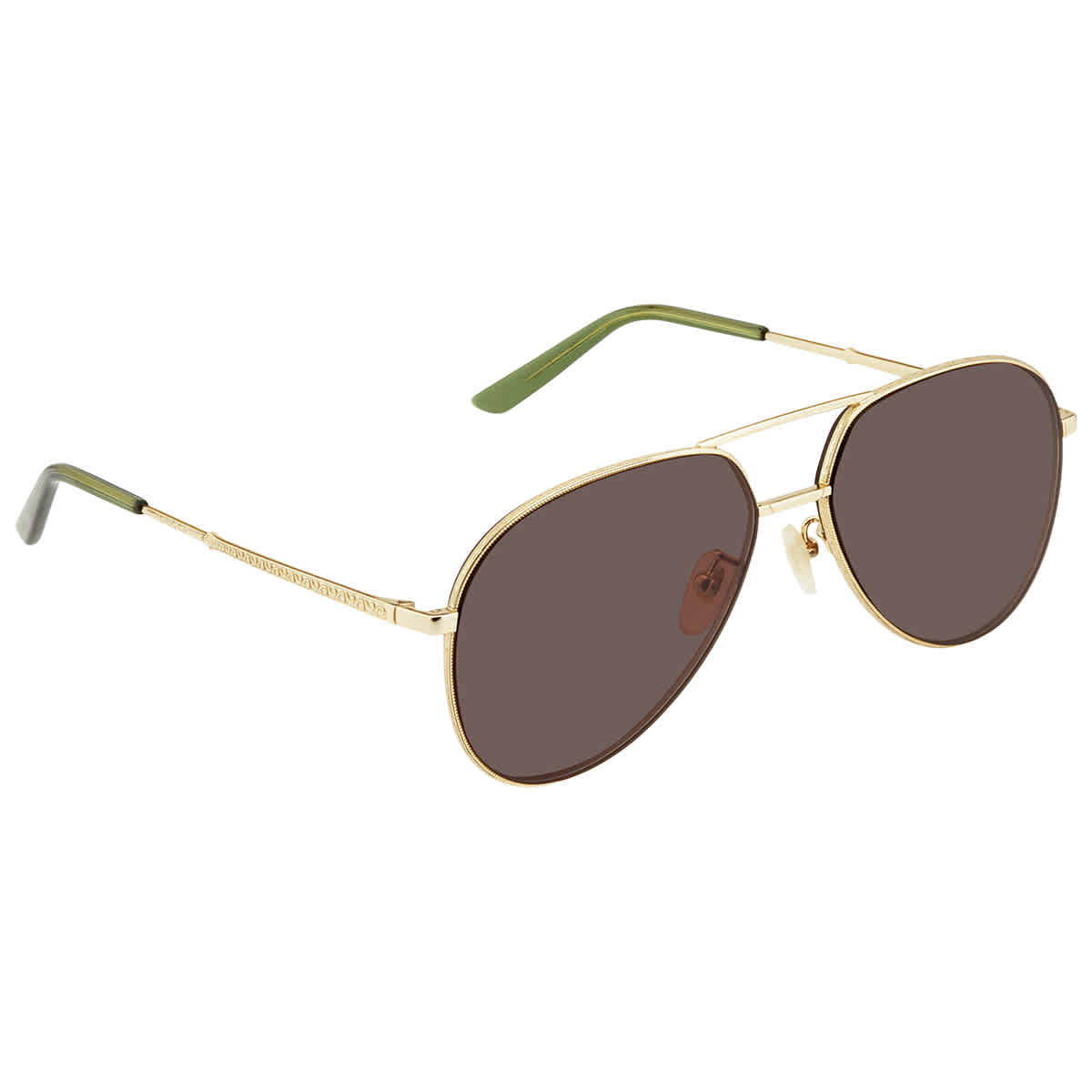 Gucci Brown Aviator Unisex Sunglasses 889652160467002 59