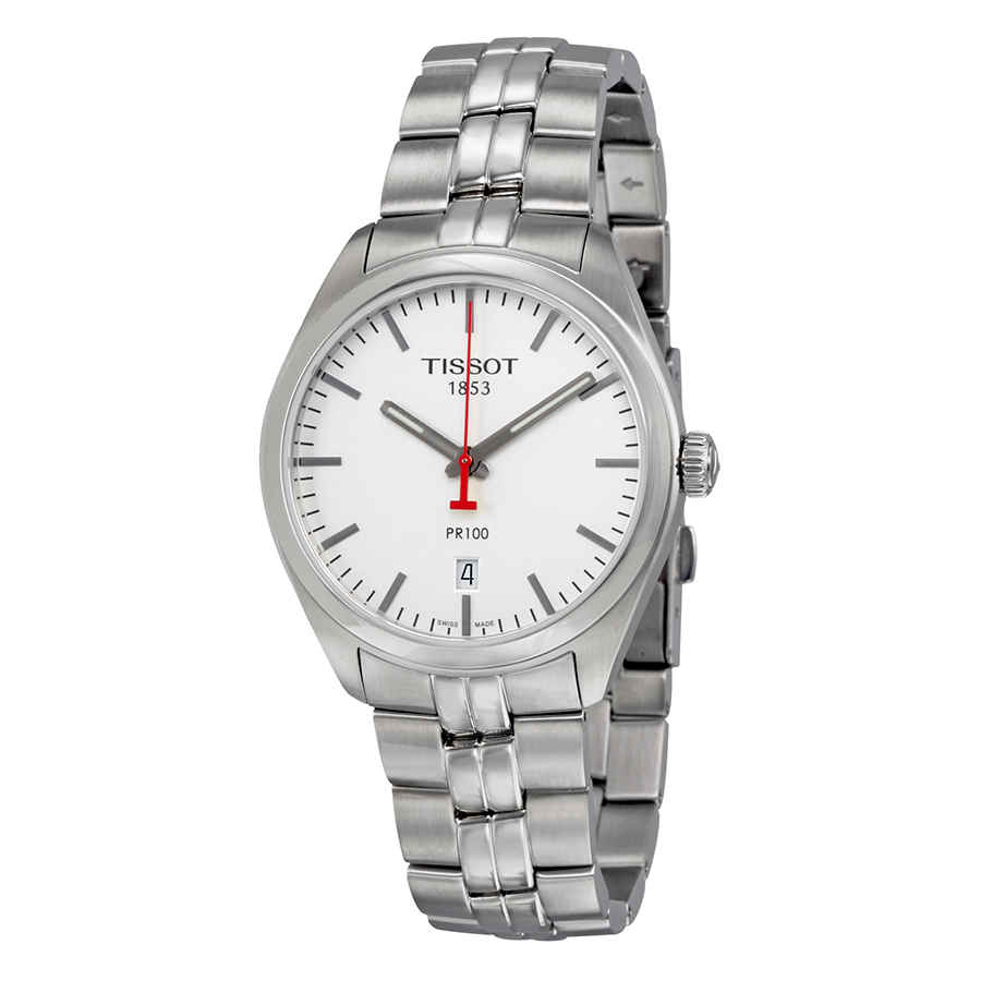 TISSOT PR 100 NBA SPECIAL EDITION SILVER DIAL MENS WATCH T1014101103101