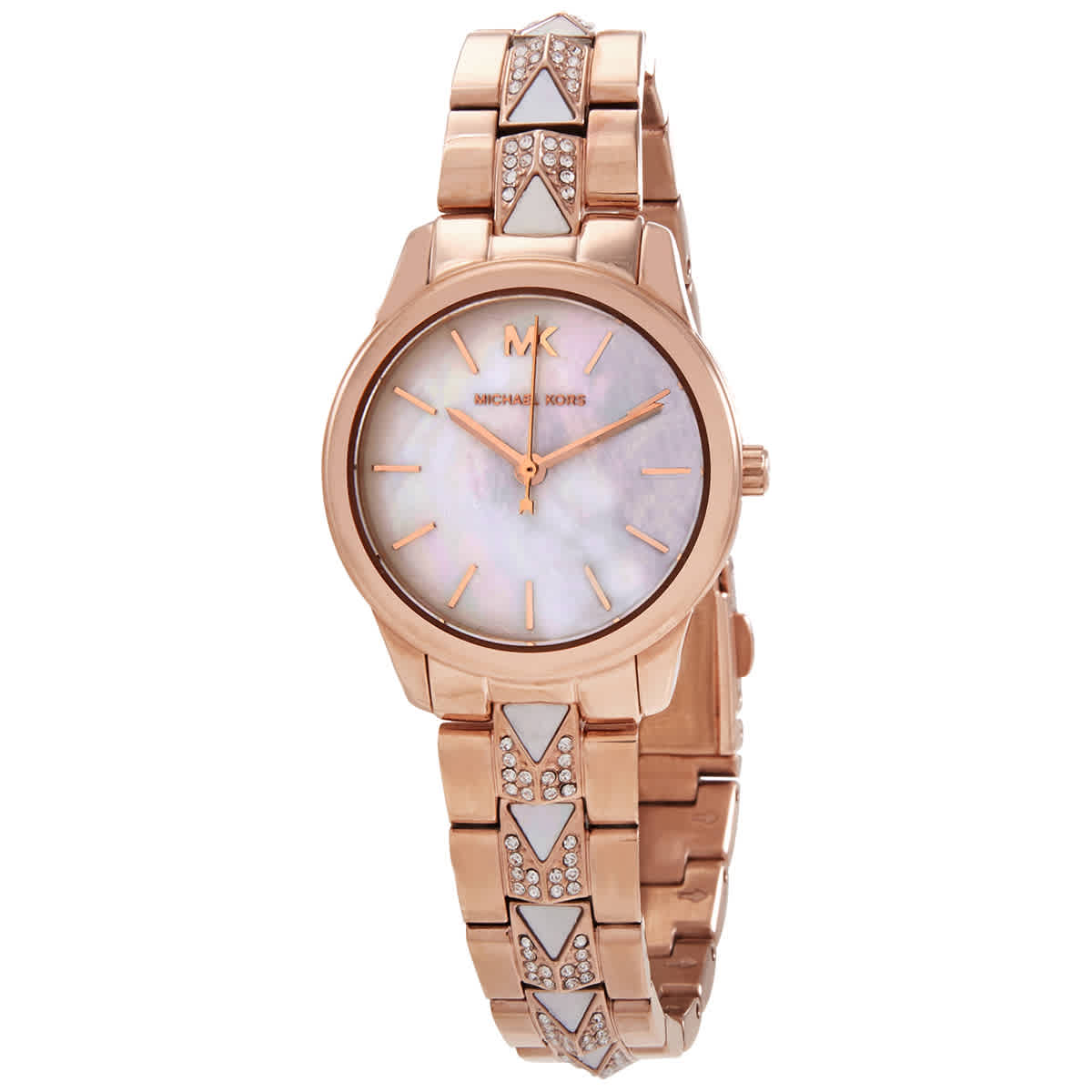Michael Kors Quartz Mother Of Pearl Dial Ladies Watch Mk6674 In Pink