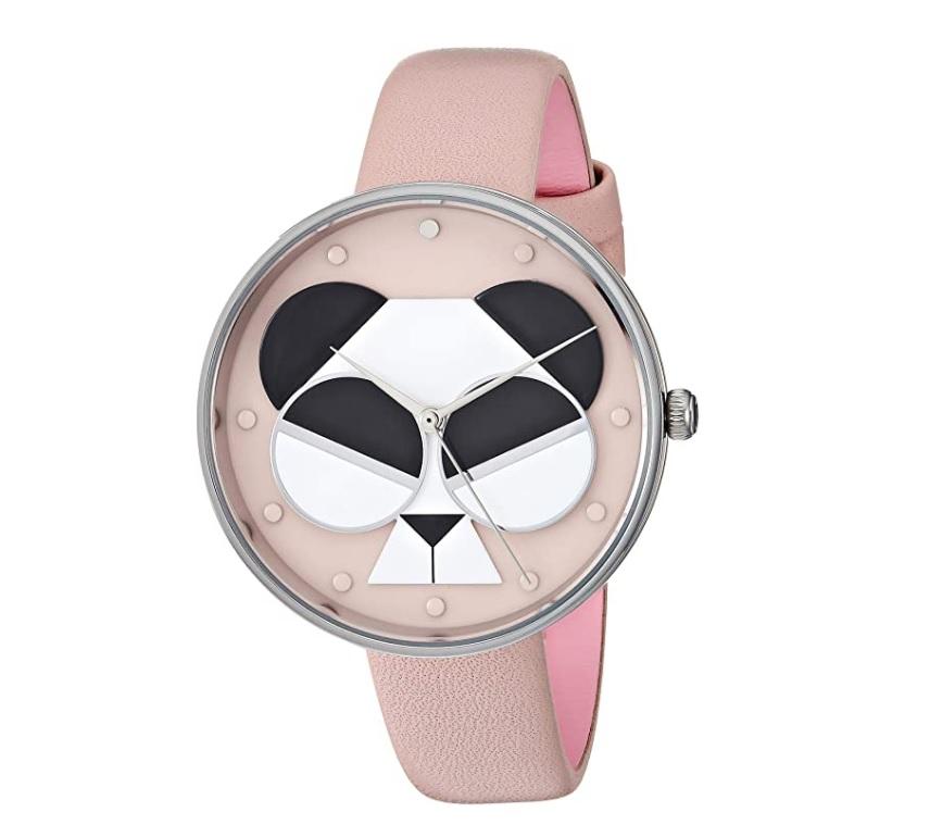 Kate Spade Quartz Metro Spademals Gentle Panda Ladies Watch Ksw1541 In Pink