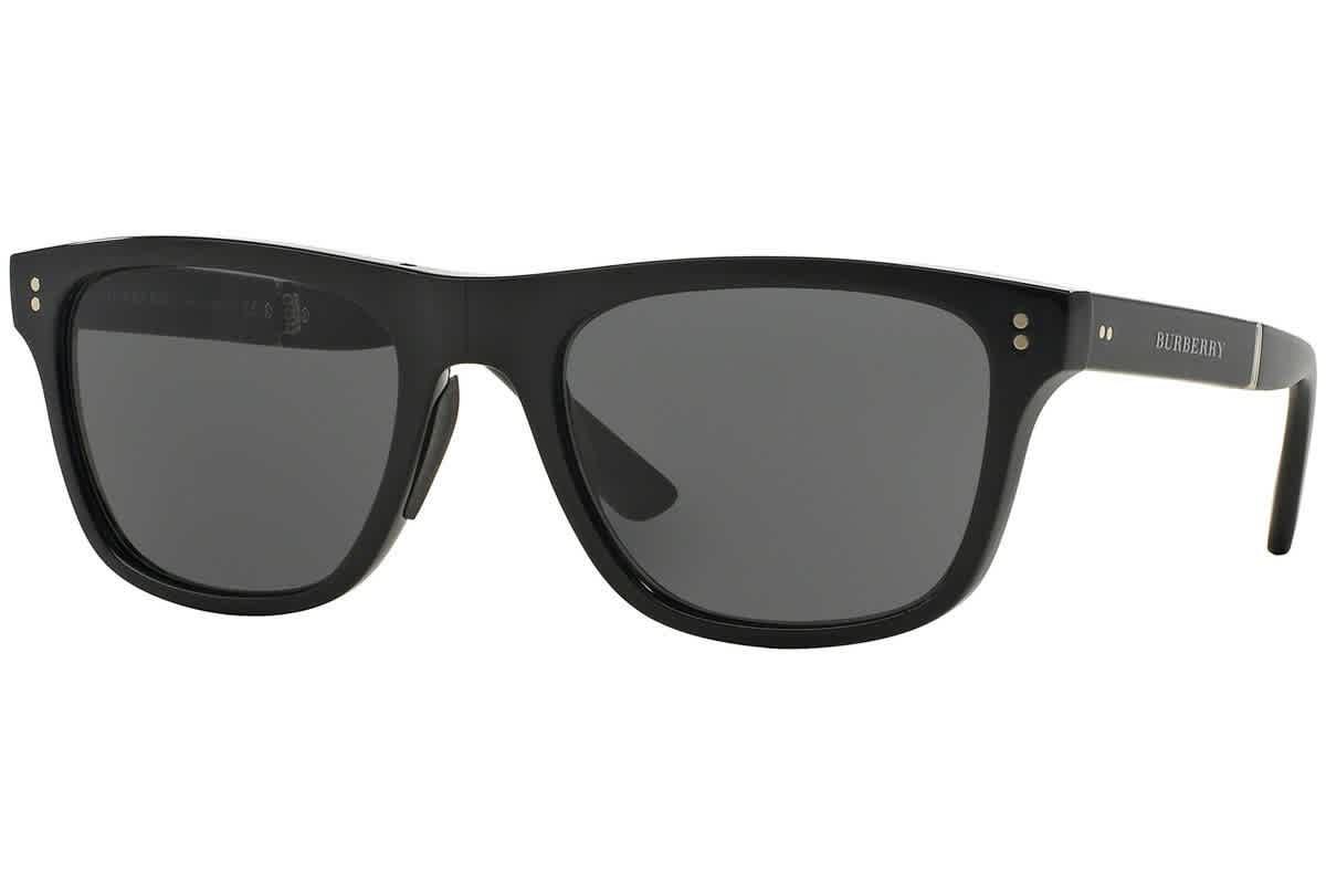 Burberry Dark Grey Square Mens Sunglasses Be4204-30015v-55 In Black
