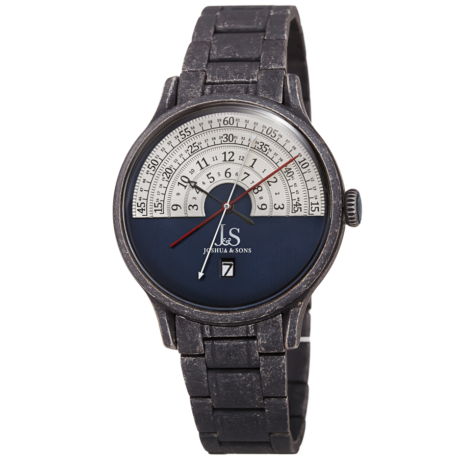 Joshua And Sons Date Blue Dial Mens Watch Jx153bkbu