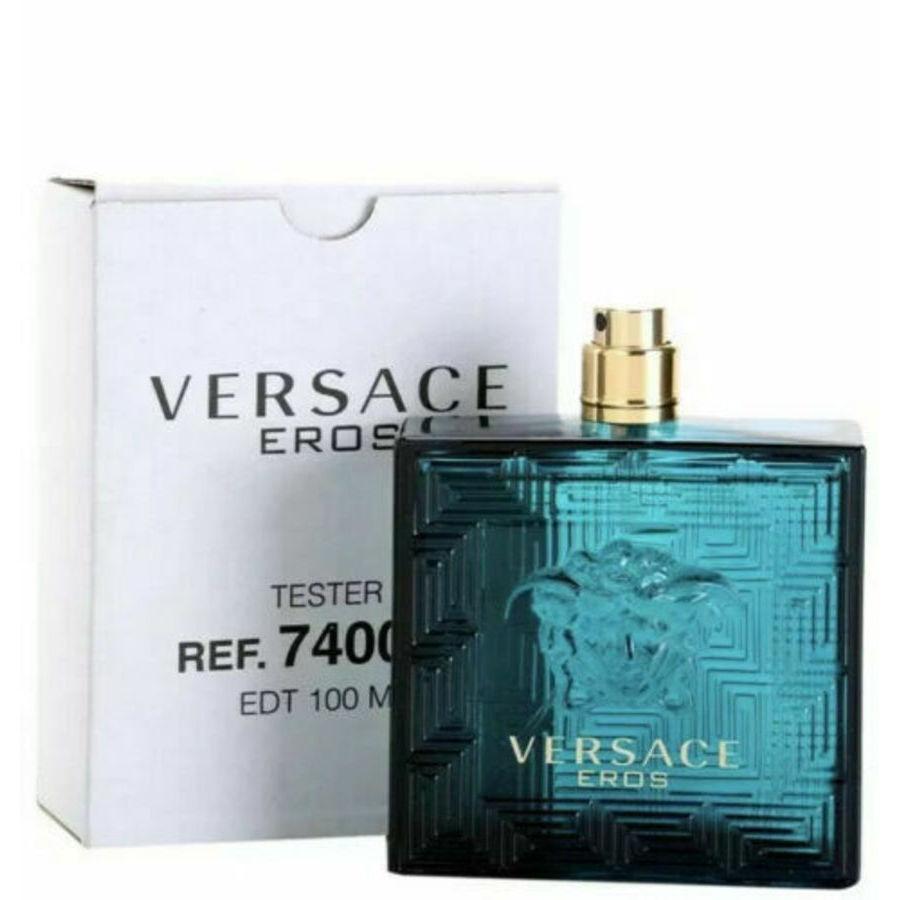 Versace Mens Eros Edt Spray 3.4 oz (tester No Cap) Fragrances 8011003810345 In Green