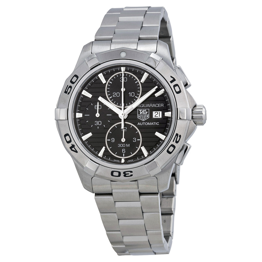 TAG HEUER PRE-OWNED TAG HEUER AQUARACER AUTOMATIC BLACK DIAL CHRONOGRAPH MENS WATCH CAP2110.BA0833