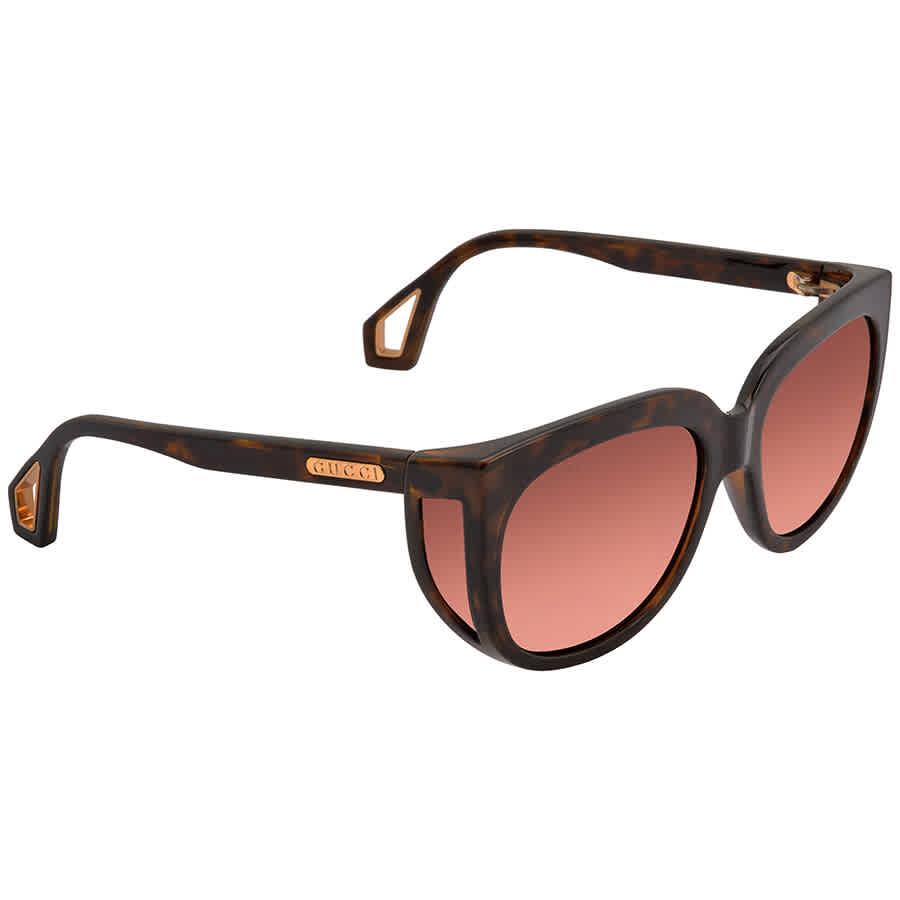 Gucci Brown Cat Eye Ladies Sunglasses Gg0468s 002 57