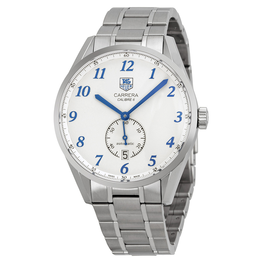 TAG HEUER PRE-OWNED TAG HEUER CARRERA AUTOMATIC SILVER DIAL MENS WATCH WAS2111.BA0732