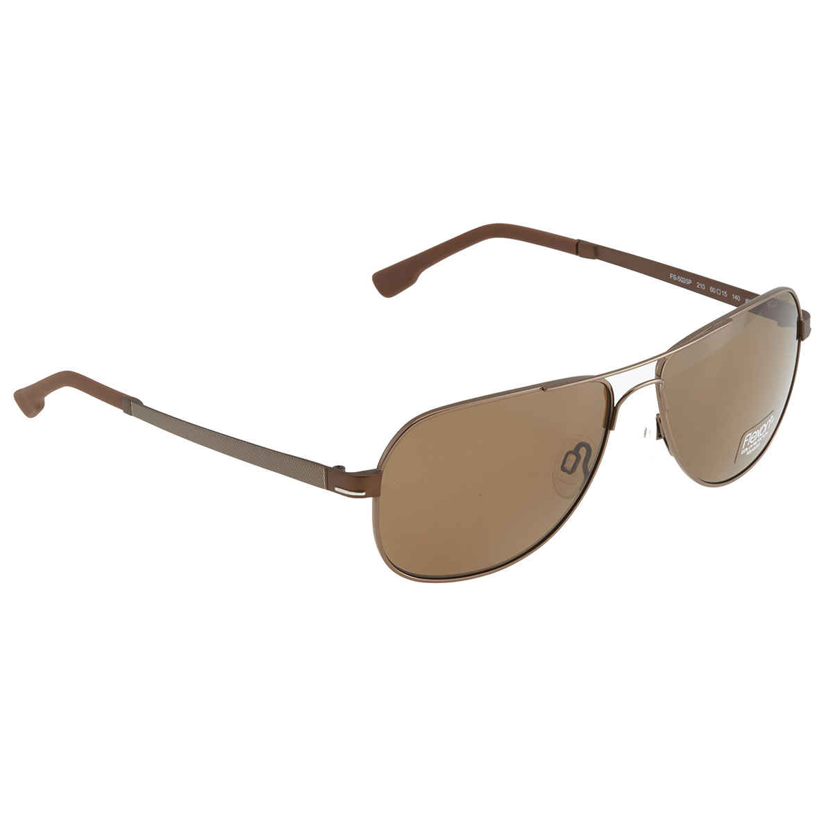 Flexon Square Mens Sunglasses Fs-5025p 210 60 In Brown