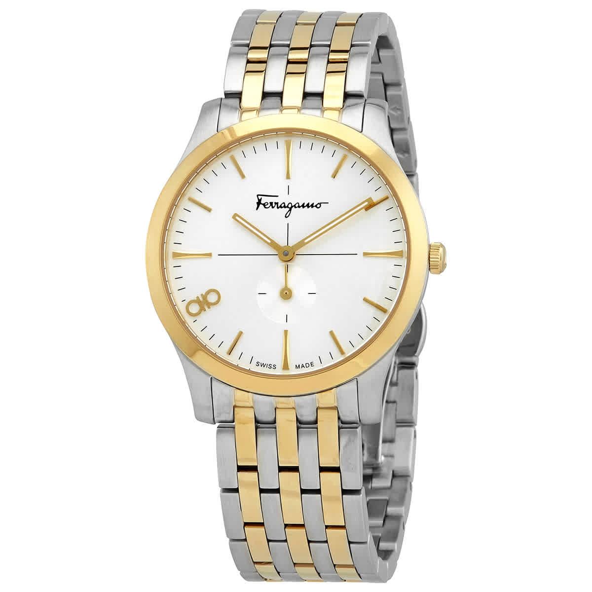 Salvatore Ferragamo Slim Quartz Ladies Two Tone Ladies Watch Sfdf01119 In Gold