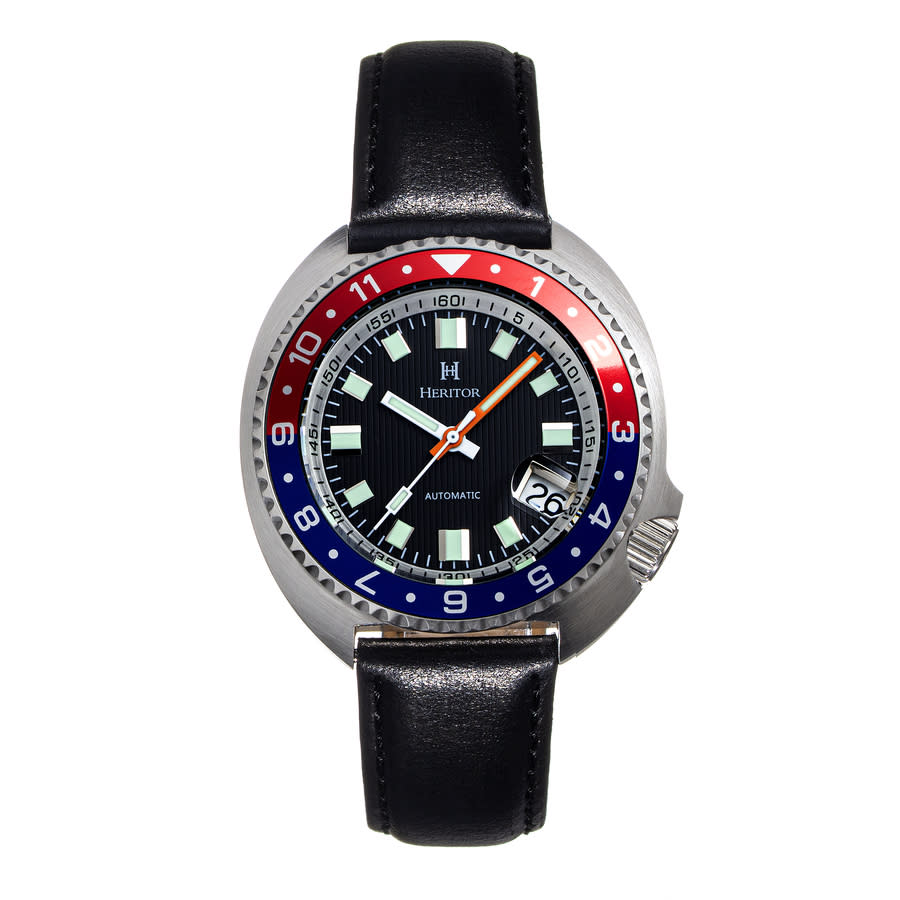 Heritor Pierce Automatic Black Dial Pepsi Bezel Mens Watch Herhs1204 In Metallic