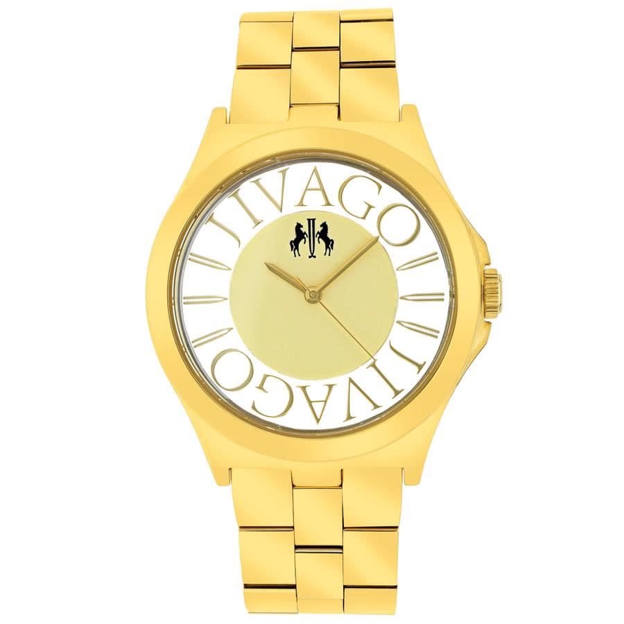 Jivago Fun Gold Dial Gold-tone Ladies Watch Jv8414
