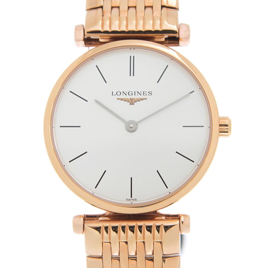 Longines La Grande Quartz White Dial Unisex Watch L42091928 In Gold
