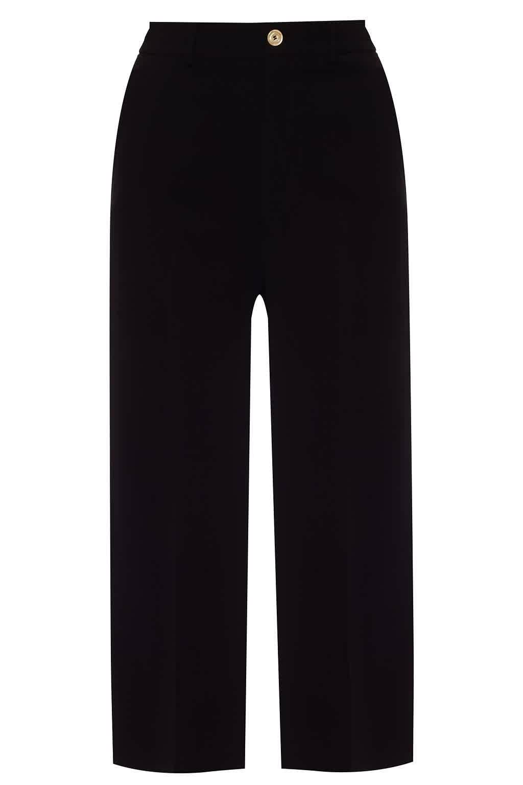 Gucci Viscose Culotte Pant With Web In Black,green,red