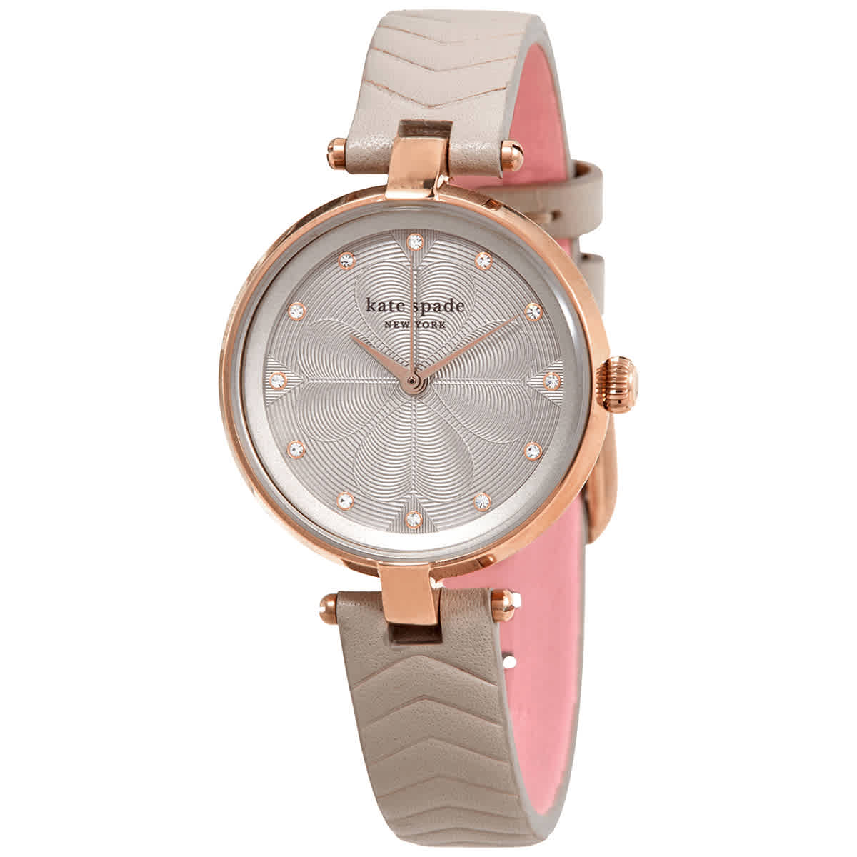 Kate Spade Annadale Quartz Crystal Grey Dial Ladies Watch Ksw1575 In Gold Tone,grey,pink,rose Gold Tone